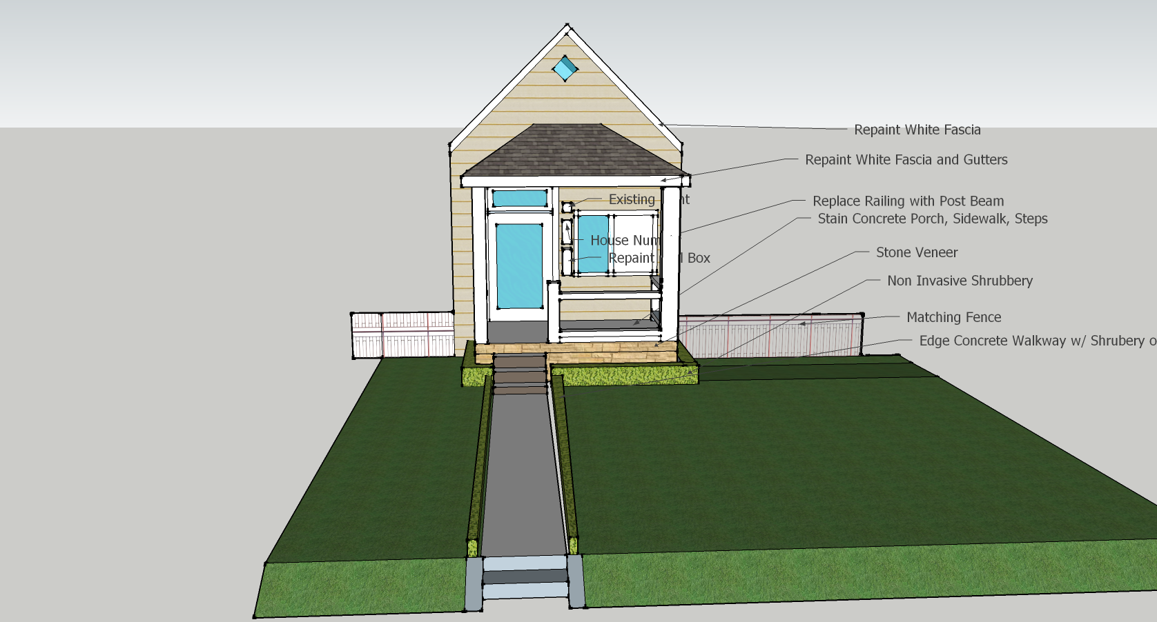 Misc Front Porch CAD Designs by Scotty – Scotts Contracting St Louis ...
