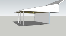 Flat Roof Porch Ceiling Simple Post Setup