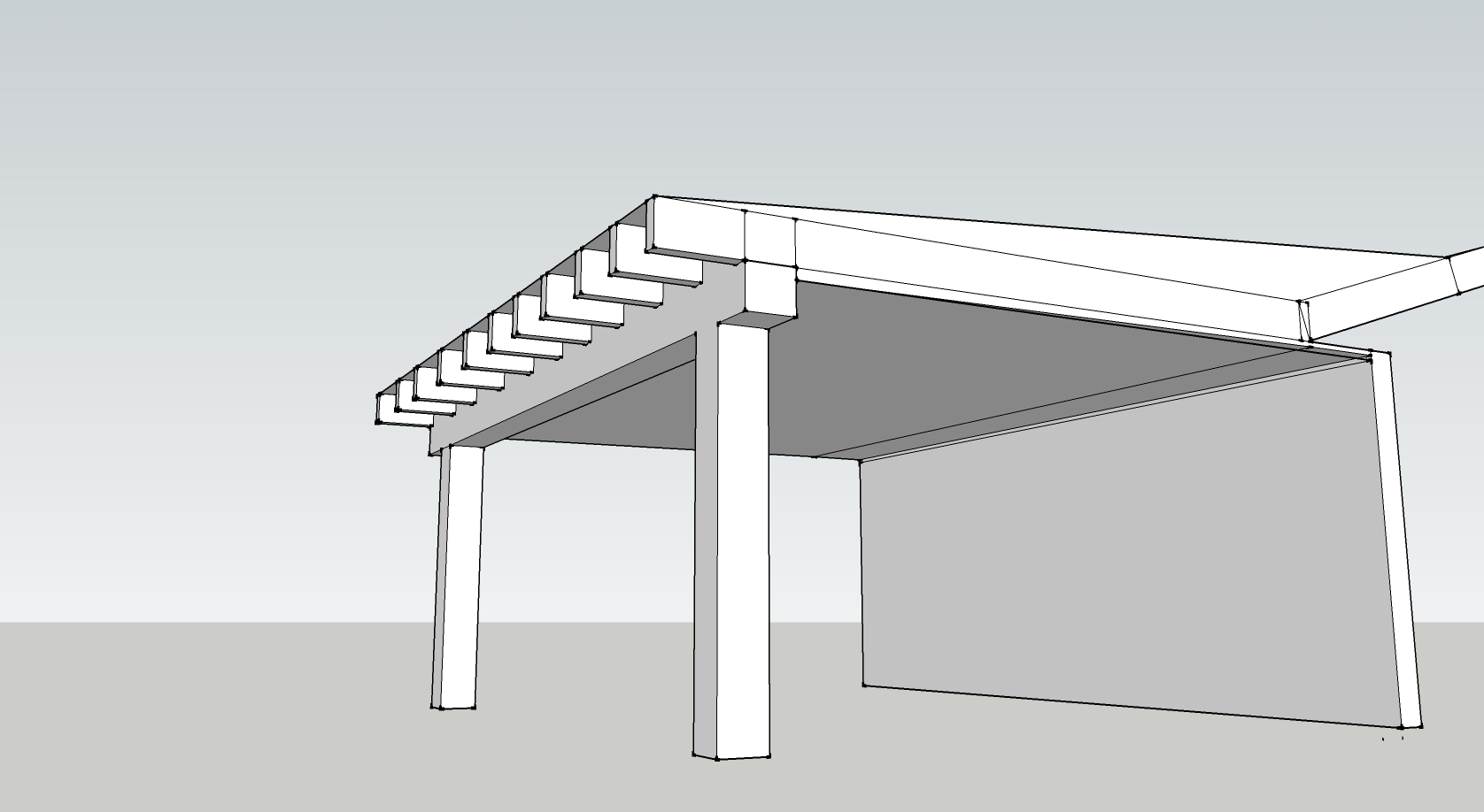 Flat roof porch ceiling scotts contracting st louis division for Front porch roof designs