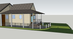 Round Porch Design View b