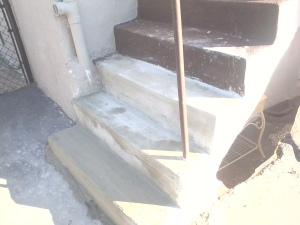 Repaired Concrete Step