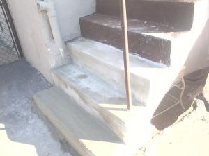 Repaired Concrete Step