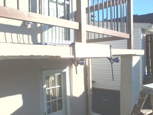 Concrete Form for Repairing Concrete Walkway