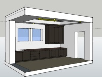 CAD Design- for Determining the Coffered Ceiling Layout for the Accent Lighting
