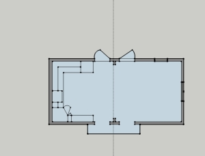 Existing Kitchen Floor Plan