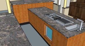 Kitchen Design #2 Island Cooktop and Island Exhaust Hood