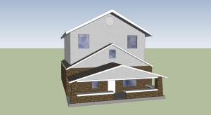CAD All Stucco Option for 2nd Floor Room Addition Designed by Scotts Contracting