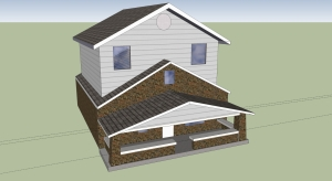 Designed by Scotty-Siding and Brick option for building a 2nd story on a 1 story building