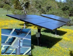 Adjustable Dual Array, Pole-Mounted Solar Panels Convert The Sun's Energy Into 4500 Watts of Electricity