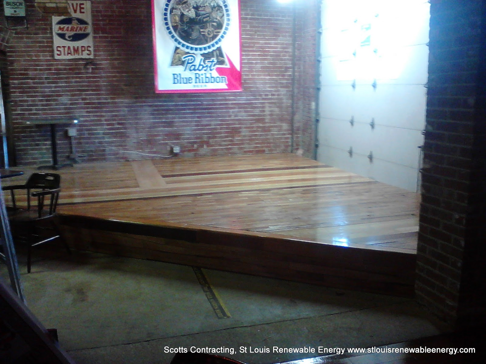 Up cycled wood flooring project scotts contracting st for Hardwood floors st louis