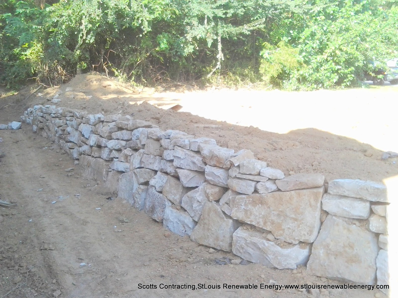 Building Natural Stone Retaining Wall Project SlideShowMovie
