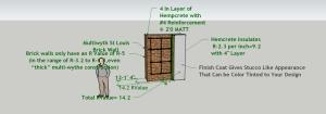 HempCrete Exterior Brick Wall Rebar Detail