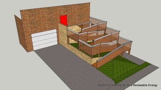 CAD Drawing Final Design Exterior Wooden Wheelchair Ramp
