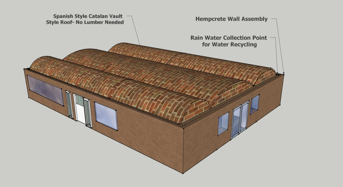 Catalan Vault Style Roof System