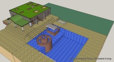 CAD Detail-Hemp Home Rear Birds Eye View