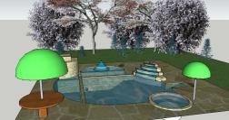 Natural Pool Design Trees 1 b