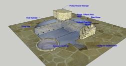 Natural Pool Design with Fish Habitat Patio View