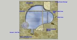 Top View Natural Pool Design with Fish Habitat
