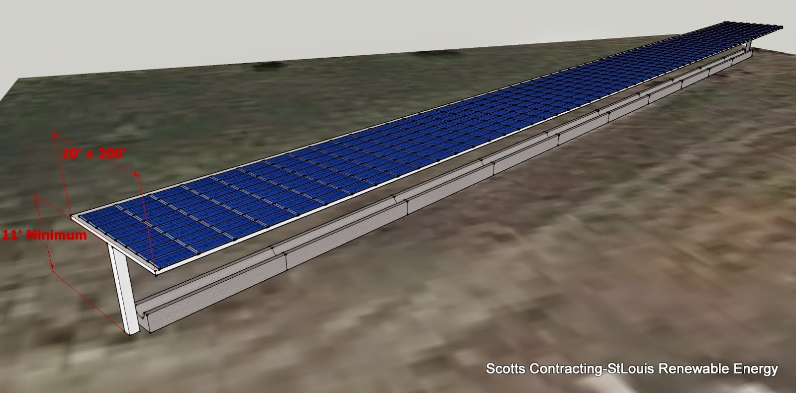 It is possible to design build a solar power shade to fit over your existing feed