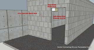 CAD Design by Scotty-Safe Room CMU Basement Steel Door Location
