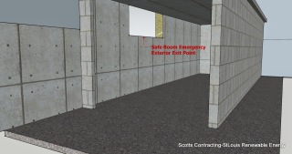 CAD design by Scotty-Safe Room Emergency Exterior Exit
